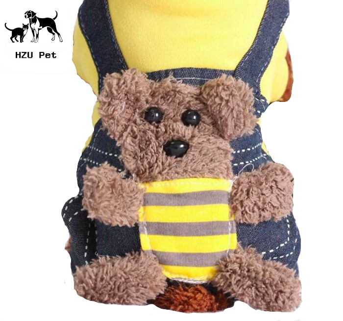 Very very very cute Wholesale pet dog hoodie pet sweatshirt teddy bear coat with 4 legs