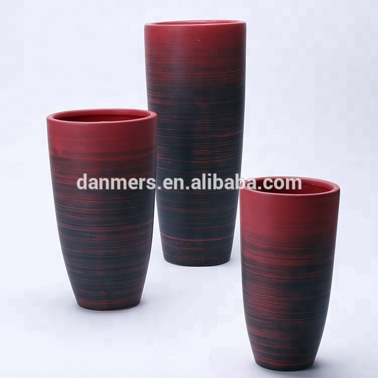 China Antique Ceramic Vases 3 Pcs Sets Flower And Red Chinese Vases