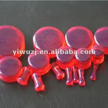 wholesale red gauges Acrylic saddle ear plug piercing ear expander expand anal plugs