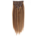 Top quality full head Indian remy clip in hair extension