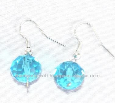 Fashion Ear Rings with Glass Ball Beads