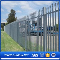 "Cheap Price European Style Garden Zone Fence""W"" Type Security Palisade Fencing"