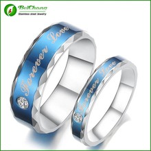 men and women silver jewelry 316l stainless steel ring with AAA-Zircon