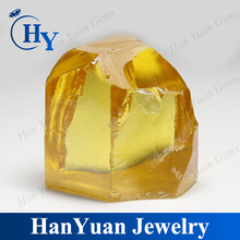 Uncut golden yellow raw synthetic diamond