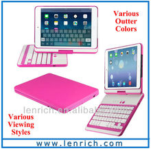 LBK156 New!! For iPad mini 2 360 Rotating Bluetooth Keyboard Case Multi-function Swivel Bluetooth Keyboard Case for iPad mini
