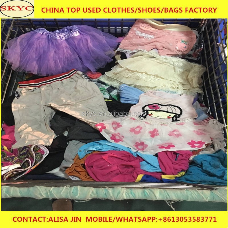 wholesale kids mixed used clothes bales used clothing for children Spring/Autumn/Summer lots of stock second hand clothes