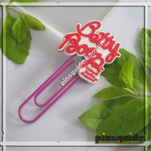 New Design Custom Logo Luminous PVC Betty Memo Paper Clip For Sale