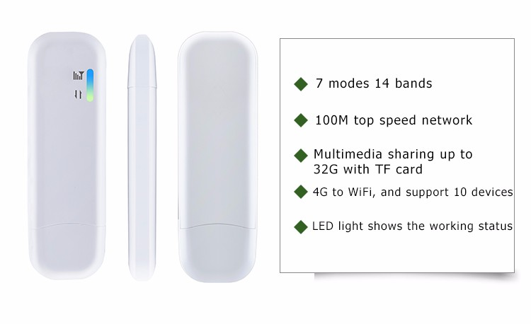 100M top speed network hotspot 4g wifi dongle