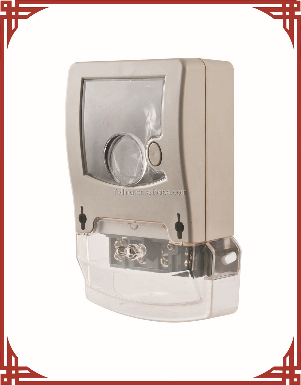 DDS-009-3 single phase clear plastic waterproof electric meter case