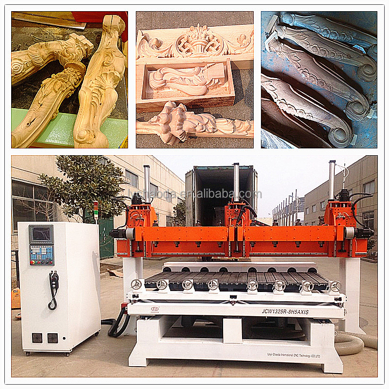 CNC milling machines for wood work price / 5 axis multi spindle cnc wood engraving machine