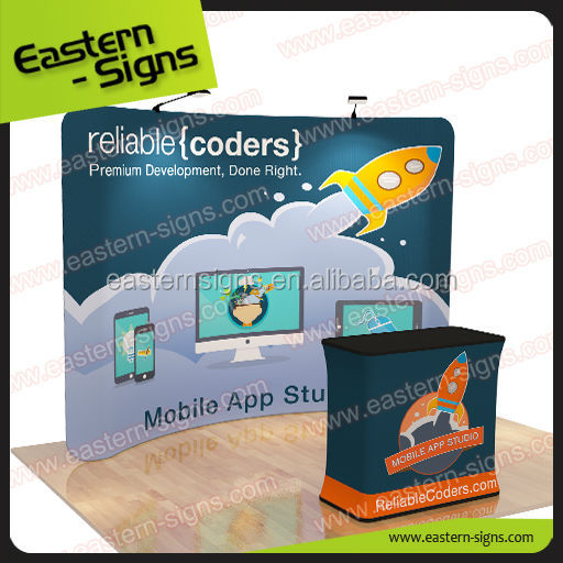 Tension Fabric Display Stand Podium Design