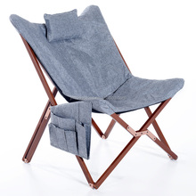 Wholesale solid wooden frame butterfly chair wood folding chair