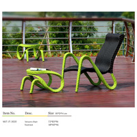 Outdoor rattan deck chair stool garden furniture