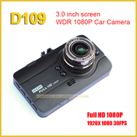 2016 New arrive 3.0 inch LCD car video camera novatek 96650 full hd 1080p car dvr D109