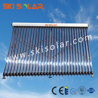 vacuum tube solar collector with direct flow