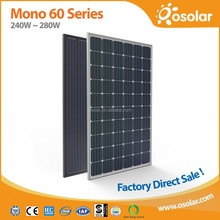 Osolar 260W 270W 280W monocrystalline panel solar battery with best price | panel solar