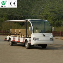 14 seats electric shuttle bus with left and right hand steering and solar panel for tourists and sightseeing
