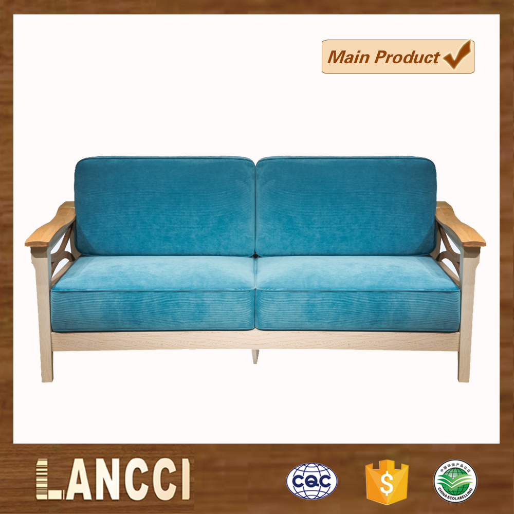 Modern solid wood fabric sofa furniture picture Color can be customized