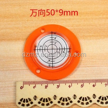 Circular Plastic Spirit Bubble Level with cork base