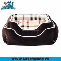 HELLOPUPPY 2016 New Classic Grid Comfortable Pet Houses Cheap Dog Beds