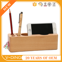 V-DING new product wooden rectangular small wooden storage box decorative pen holder