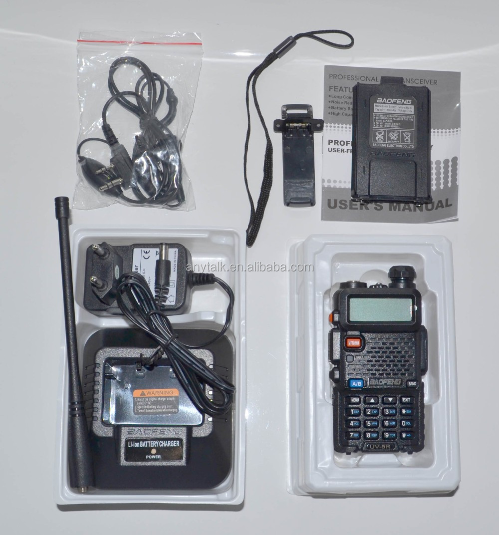 Baofeng Red UV5R hot selling dual band radio portable handheld