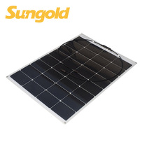Monocrystalline 100 w flexible solar panel for boat