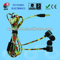 Phone/MP3/MP4 player use corlorful and retractable earphone cable