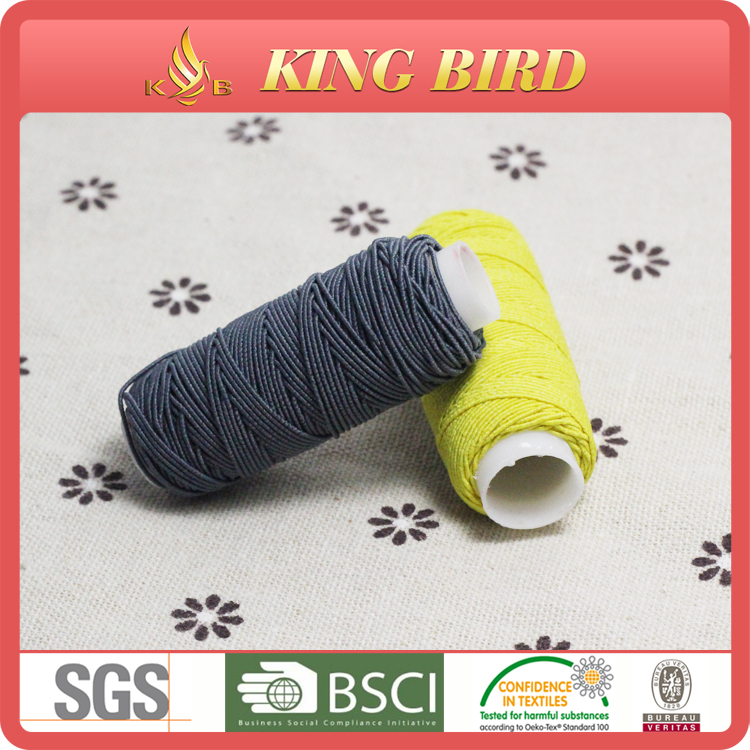 colorful High quality cheap price latex-free rubber elastic thread yarn