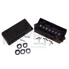 J600082 Trailer Wire Junction Box 7 Studs Weatherproof Color Coded with Hardware