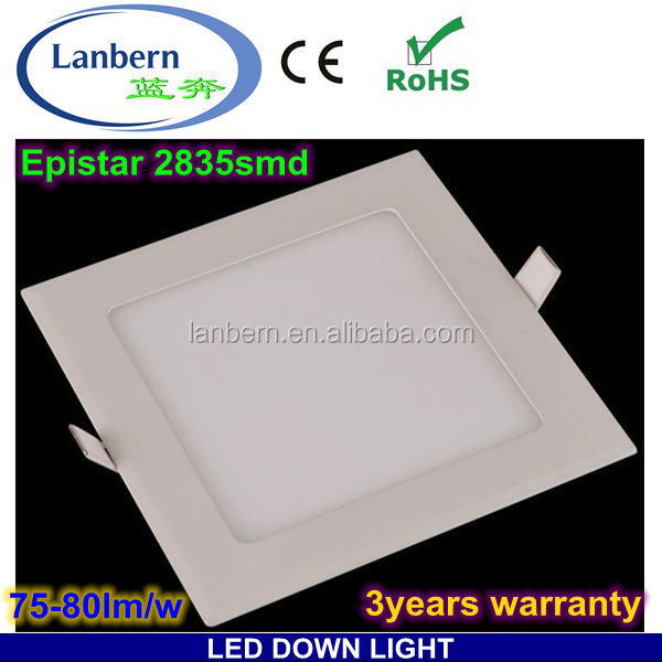 Bulk buy from China Square 2014 new product SMD high lumen led <strong>spotlight</strong> and down lighting 6w CE&ROHS 3years warranty