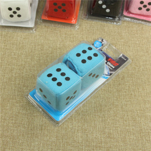 6*6cm Colored Bulk Cheap fuzzy dice with custom printed