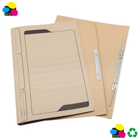 A4 Spring File with Transfer Staple, Kraft paper, 100% Recycled