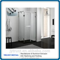 2016 mirror polish anodized finish surface aluminum shower room profile