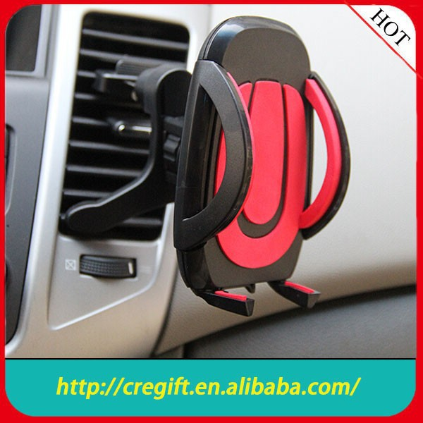 Mobile Phone Car Mount - Air Vent Smartphone Car Mount with Push-In One Step Mounting Technology - Best Cell Phone Holder