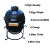AUPLEX Small Patio Mini Ceramic Charcoal European Barbecue Grill