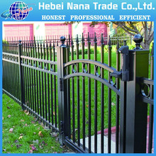 Garden Zone Fence / Galvanized Powder Coated Metal backyard fence