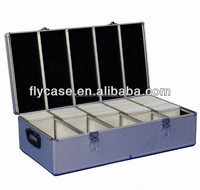 aluminum profile fireproof shell cd display case with drawers and logo printed