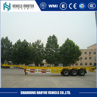 container flat bed trailer chasis