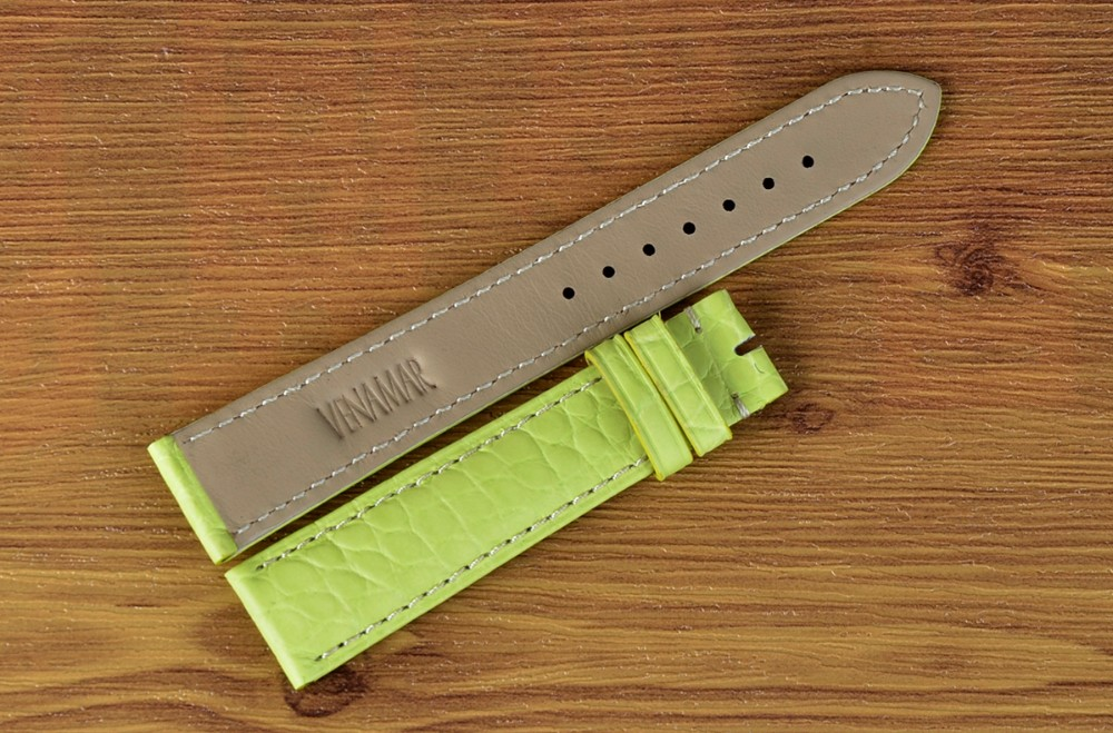 Custom logo 100% real crocodile leather watch band_2.JPG