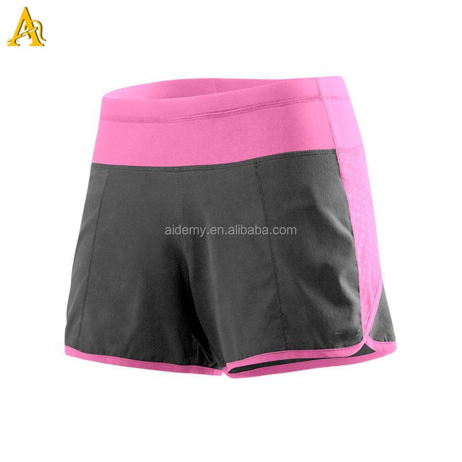 Custom cross sports short ladies running shorts