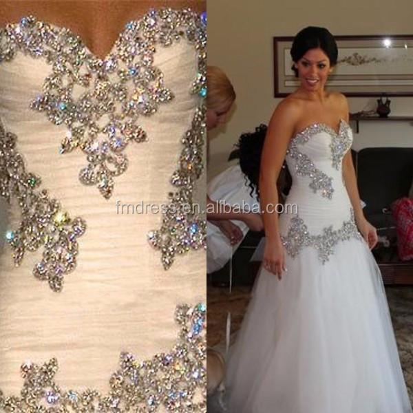 Bling bling crystal diamonds mermaid sweetheart hijab for Diamond mermaid wedding dresses