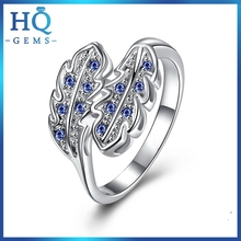 Design stylish two-tone 925 sterling silver lovers ring
