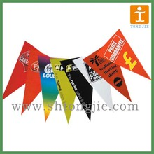 triangle PVC bunting flags, hanging strings bunting