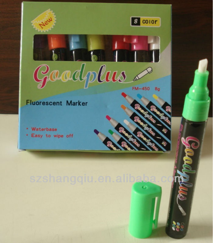 China best window cardboard package Liquid chalk factory chalk marker ink