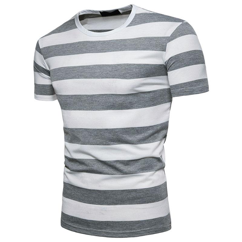 Striped Printed Men T-shirts Fashion O-neck Short Sleeve Men Top Summer Casual T-shitrs 2018 Male Clothing