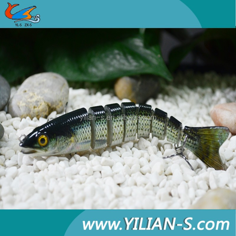 3D eyes 8-sections plastic fishing lures lifelike swim action tempting real fish