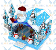 Christmas Snow Bounce House , New Design Christmas Inflatable Bouncer