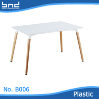 China factory hot selling plastic korean dining table