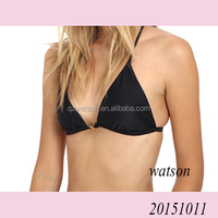 Women bikini top swimwear plain color t back